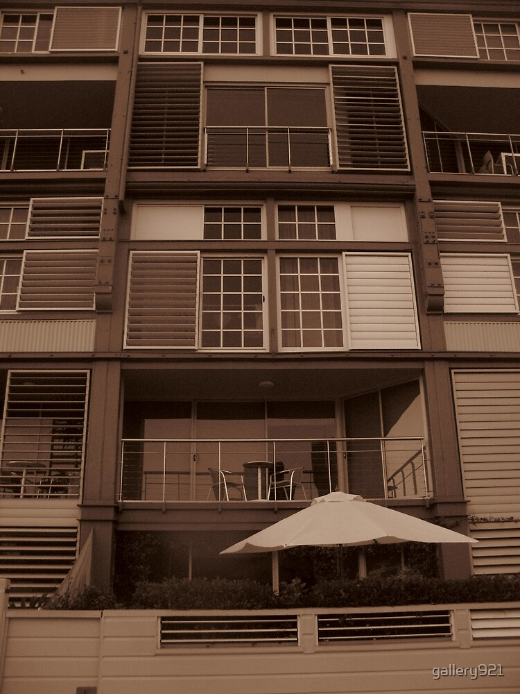 glass and shutters - sepia by gallery921