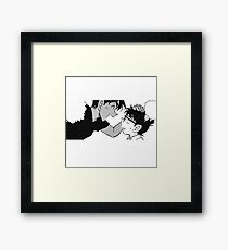 heiji hattori & conan edogawa Framed Print