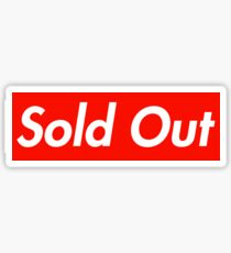 Supreme Sold Out Sticker