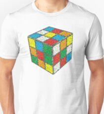Mosaic Dotted Blur Ribiks Cube Design T-Shirt