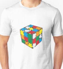 Oil Painted Ribiks Cube Design T-Shirt