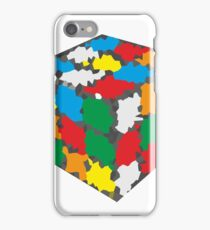 Oil Painted Ribiks Cube Design iPhone Case/Skin