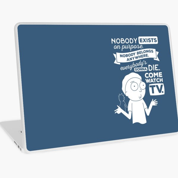 Rick and Morty Schwifty Wubba Lubba Fair Use Nobody Exists on Purpose Laptop Skin