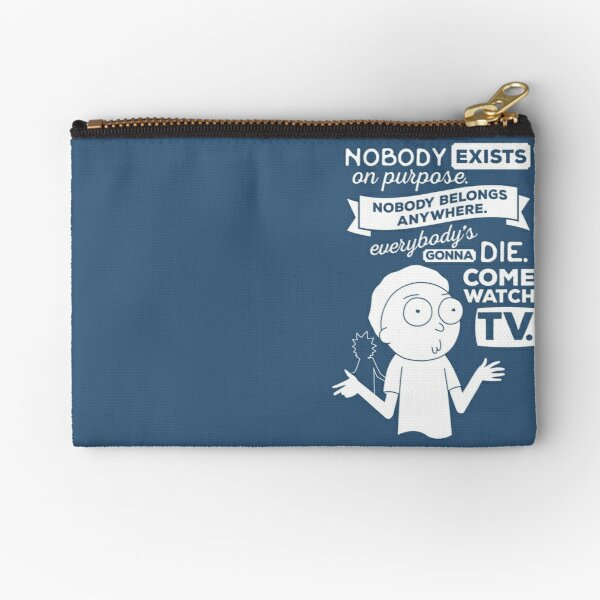 Rick and Morty Schwifty Wubba Lubba Fair Use Nobody Exists on Purpose Zipper Pouch