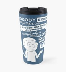 Rick and Morty Schwifty Wubba Lubba Fair Use Nobody Exists on Purpose Travel Mug