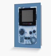 Gameboy Blue Greeting Card