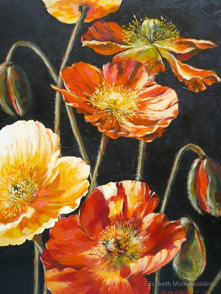 Poppies Too by Elizabeth Moore Golding