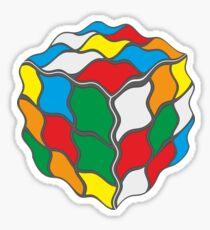 Wavy Water Jelly Rubix Cube Design Sticker