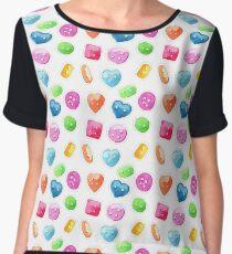 Sweet buttons Women's Chiffon Top