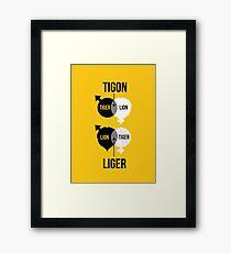 Tigon, liger Framed Print