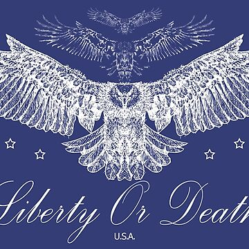 Liberty Or Death - Bald Eagle USA by CentipedeNation