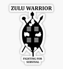 Zulu Warrior Sticker