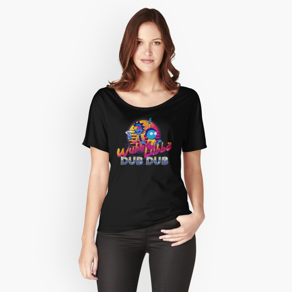 Rick and Morty Neon Relaxed Fit T-Shirt