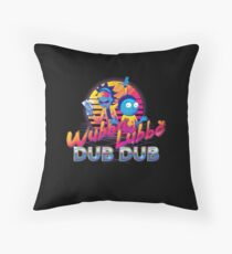 Rick and Morty Neon Throw Pillow