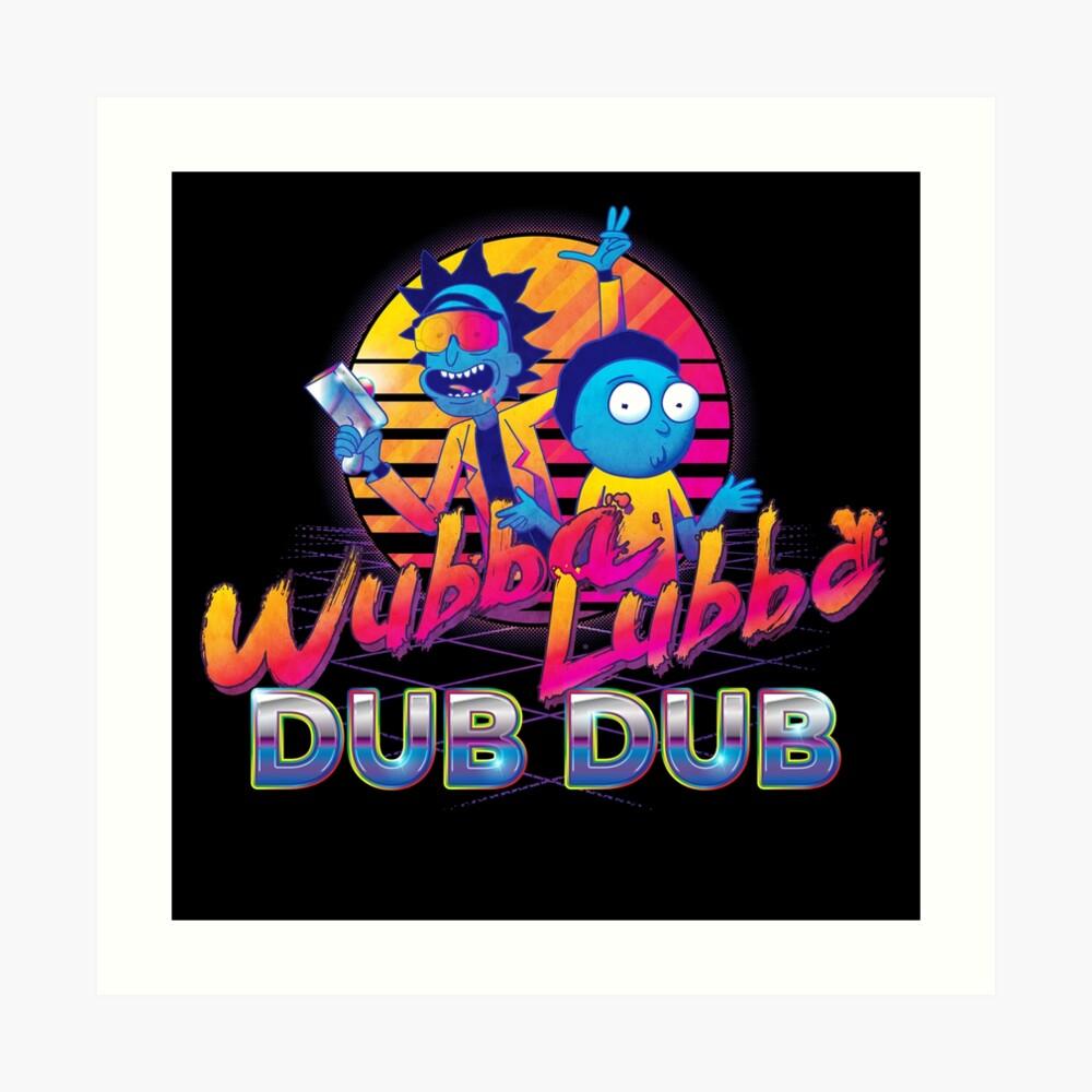 Rick and Morty Neon Art Print
