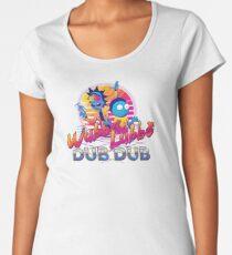 Rick and Morty Neon Premium Scoop T-Shirt