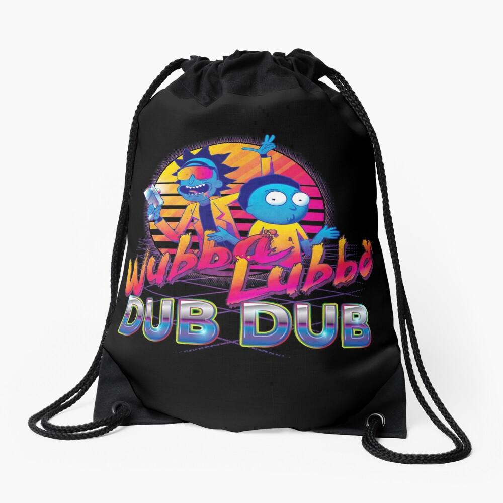 Rick and Morty Neon Drawstring Bag