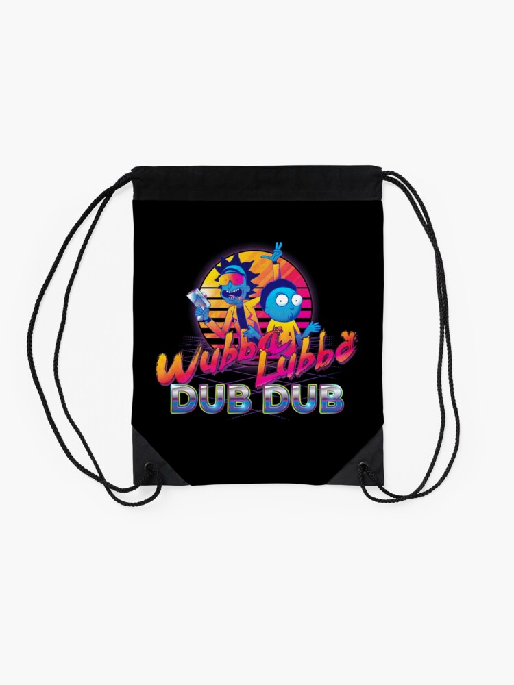 Alternate view of Rick and Morty Neon Drawstring Bag