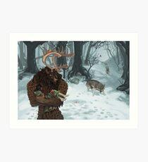 B n' B (Beauty and Beast) Art Print