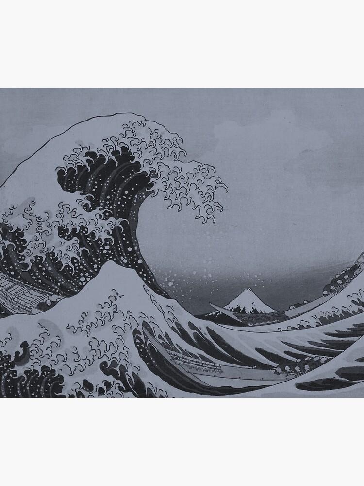 Silver Japanese Great Wave off Kanagawa by Hokusai by podartist