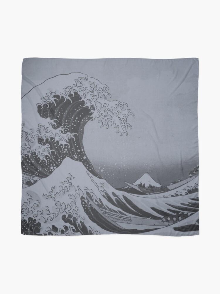 Alternate view of Silver Japanese Great Wave off Kanagawa by Hokusai Scarf