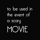 Scary Movie Cushion by INFIDEL