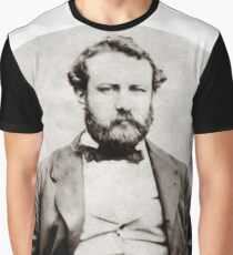 Vintage Jules Verne Portrait Photograph  Graphic T-Shirt