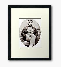 Vintage Jules Verne Portrait Photograph  Framed Print