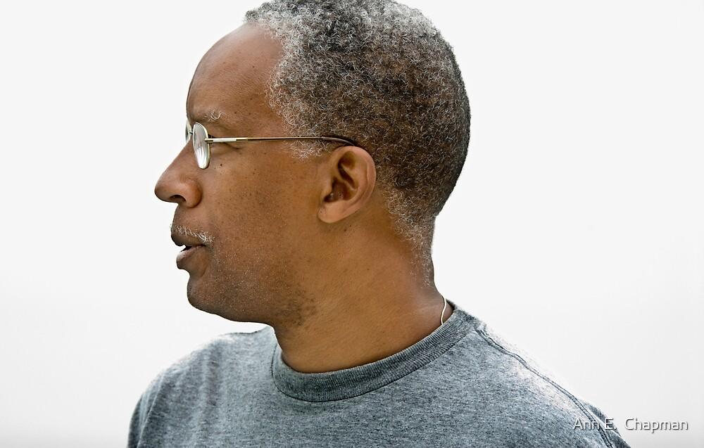 Man with glasses by Ann E.  Chapman