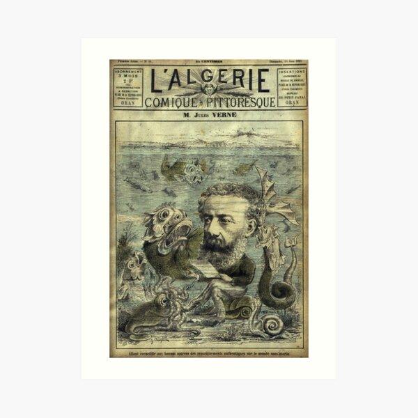 Couverture Périodique Vintage Jules Verne Impression artistique