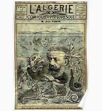 Vintage Jules Verne Periodical Cover Poster