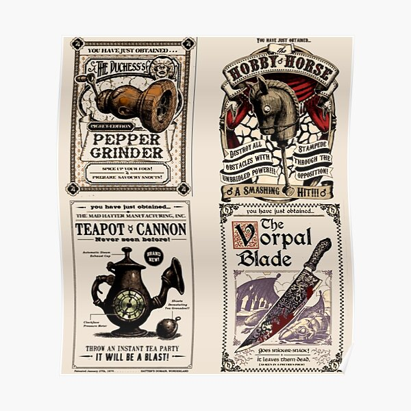 Weapons Cards- Alice Madness Returns Poster
