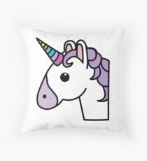 Cojín Unicornio como un emoji.