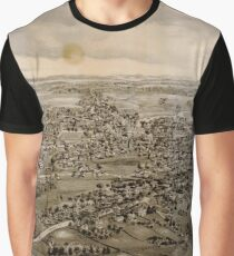 Vintage Pictorial Map of Kennebunk Maine (1895) Graphic T-Shirt