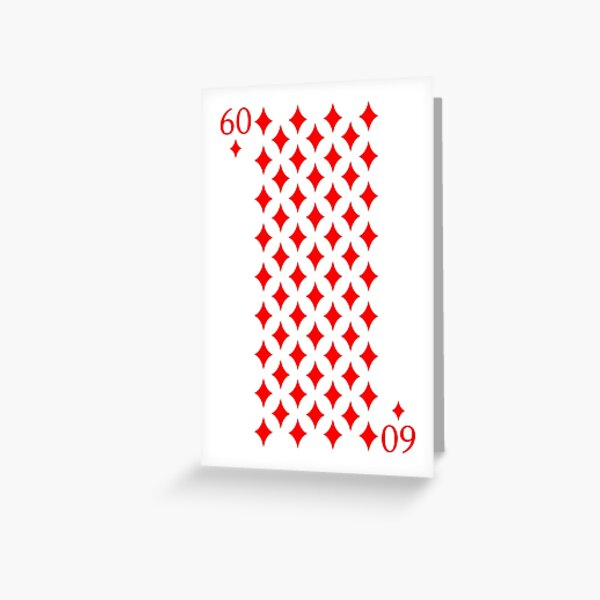 60 of Diamonds Greeting Card