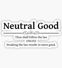 Neutral Good DND 5e RPG Alignment Role Playing Sticker