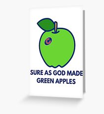 Chicago Cubs World Series Green Apples Greeting Card