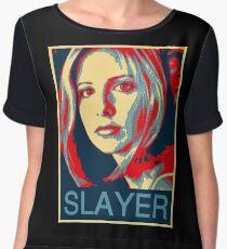 Buffy the Vampire Slayer - Obama Poster Women's Chiffon Top