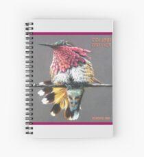 Le Colibri d'Elliot by Art4feel Paris (fushia) Spiral Notebook