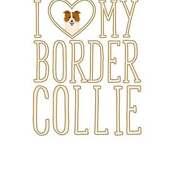 I Heart/Love My Border Collie by artbachelor