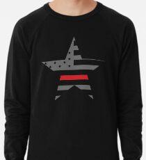 Thin Red Line - American Fire Fighter Flag Lightweight Sweatshirt