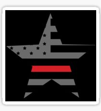 Thin Red Line - American Fire Fighter Flag Sticker