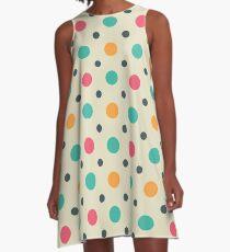Polka Dots Lover (Color Mixer) Small Art A-Line Dress