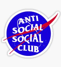 NASA Anti Social Social Club Sticker