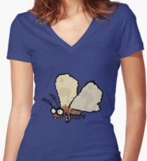 Melli, the mean moth Women's Fitted V-Neck T-Shirt
