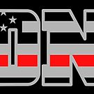 FDNY Thin Red Line - American Fire Fighter Flag by CentipedeNation