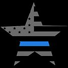 Thin Blue Line - American Police Flag by CentipedeNation