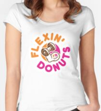 Flexin Donuts Women's Fitted Scoop T-Shirt