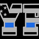 NYPD Thin Blue Line - American Police Flag by CentipedeNation
