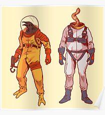 Earthworm Jim & Psycrow Poster